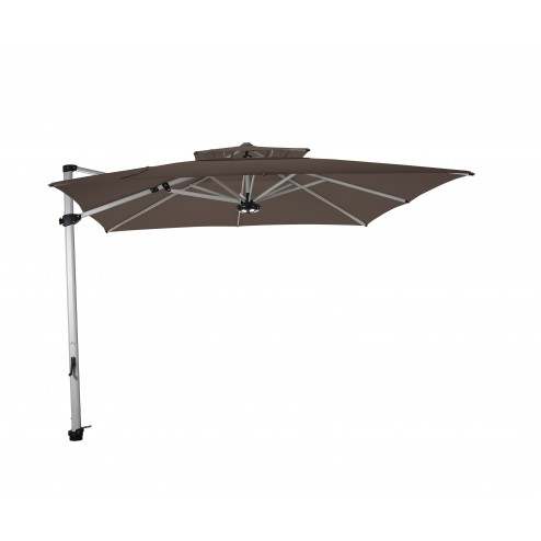 Laterna parasol déporté 300*300cm. taupe