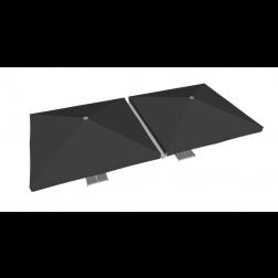 Gouttière PVC 400cm gris