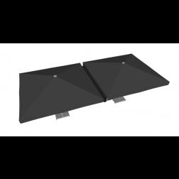 Gouttière PVC 400cm noir