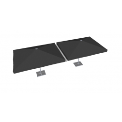 Gouttière PVC 300cm gris