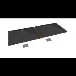 Gouttière PVC 300cm taupe