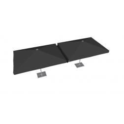 Gouttière PVC 300cm noir