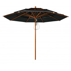 Lasagna Pro parasol Noir (ø330cm)