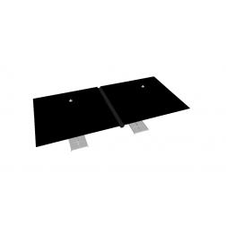 Gouttière PVC 330cm noir